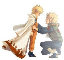 Minato Namikaze and Naruto~ father and Son by SomethingKawaii101af