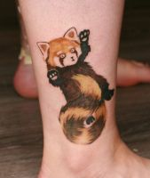 Red Panda Tattoo by Angelique Grimm by Angelique-Grimm