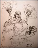 Tribal Hulk: sketch by andybrase