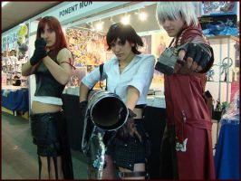 Tifa, Lady and Dante by Thara-Wood
