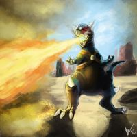 Spinifer used Flamethrower by biscuitcrumbs