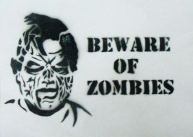Beware of Zombies Stencil by Gordorca