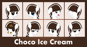 MLP OC Faces - Choco Ice Cream by outlaw4rc