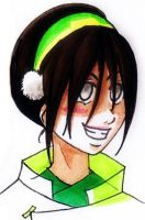 Avatar- Toph Bei Fong doodle by desiderata-girl