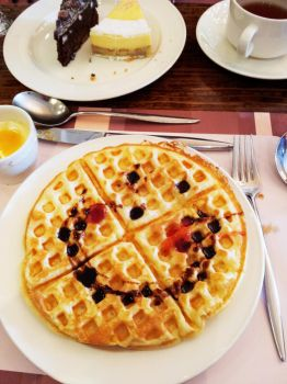 Smiling Waffle by Evelynism