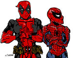 Spideypool by Axxerous