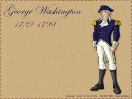 George Washington Wallpaper by Historybuffy