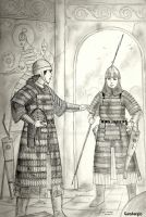 HWS Early Medieval Turanian Women Warriors Concept by Gambargin