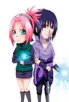 Sasusaku chibi: Ready for war!! by ioana24