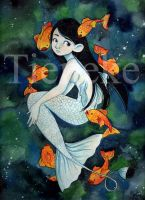 The little mermaid by Tieneke