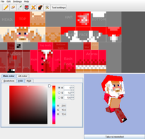 Minecraft: Santa Skin-preview- by 1Docmaster1