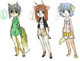 Anthro Adopts { CLOSED } by here-kitty--kitty