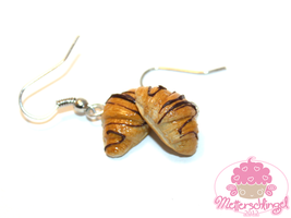 Chocolate Croissant Earrings by Metterschlingel