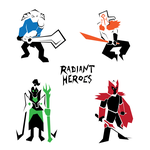 Radiant Heroes Polygons by zacharychua