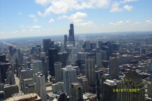 Downtown Chicago From Above by BMML