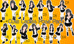 Cute Ladies Pose Pack DL by JuuRenka