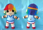 Humanized Rainbow Dash Plush by Tofutastic