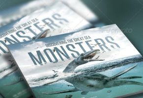 Discover Great Sea Monsters Church Flyer and CD by loswl