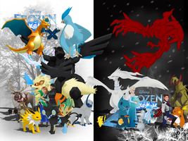 MMD Frozen-PKMN - Two worlds by JackFrostOverland