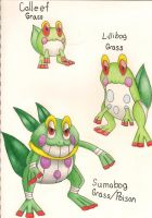 Fakemon- Leaps and Bounds - Grass Starters by dragonkitteh