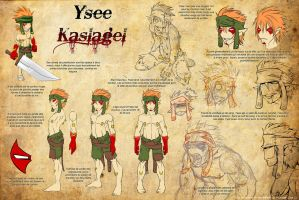 Ysee ref sheet -French- by Viddharta