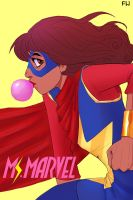 Ms. Marvel by charliethestargazer