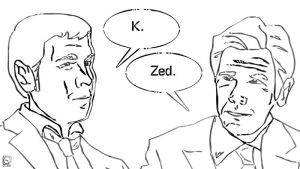 Agent Zed and Agent Kay by jackcrowder