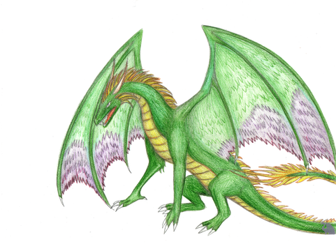 Green Dragon, Heroes III by Flying-With-Dragons