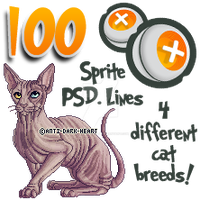 Cat Sprite Templates - 100 points by Anti-Dark-Heart
