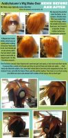 Before and After Neku Wig by AcidicAutumn