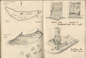 Notes on sketchbook of fortifications 02 by Panaiotis