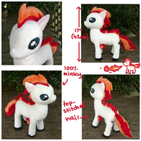 My Little Ponyta plush prototype 1 by SilkenCat