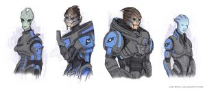 Mass Effect Chronicles - Main Character designs by Fuelreaver