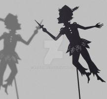 Peter Pan- Shadow Puppet by PaperTales