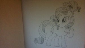 Rarity Sketch by HeyApplejack