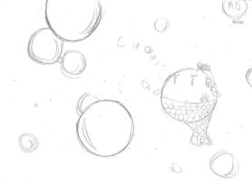 Bubbles and Mermaid by MonkeyQueeen