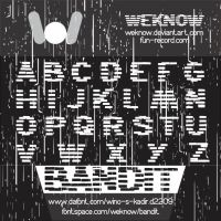 bandit font by weknow by weknow