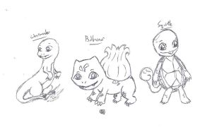 Kanto Starters by uhnevermind