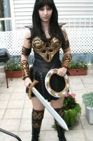 Full view of Xena costume by BrassIvyDesign