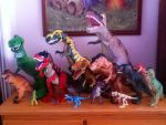 My Tyrannosaurus collection. by Creepy-Stag-Waffle