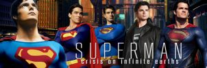 Supermen -Crisis On Infinite Earths- Movie Poster by Zedkate