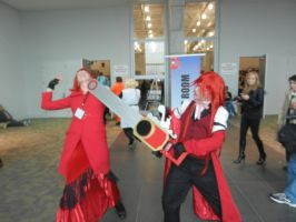 Nekocon 2012 Grell and Madame Red Cosplay by caseygracy1234