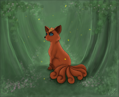 Blue-eyed Vulpix by Summerly