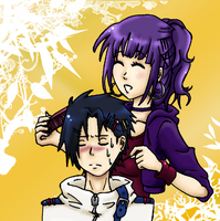 SH: dressing Sasuke's hair by Kohane-chan