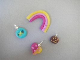 Rainbow, button, heart, cookie by maluka3