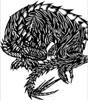 B/W Dragon 3 by SonsationalCreations