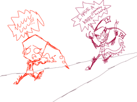 Free Sketch 5 - Tith chasing Jewel with knife by DibFan4LifeX3