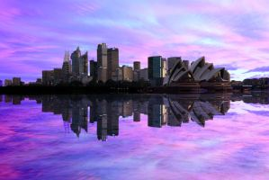 Opera House in reflection by kate-art