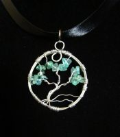 Apatite Tree of Life Close up by SapphireIceAngel