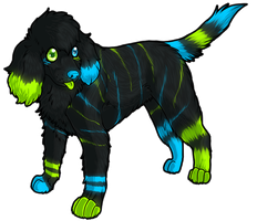 Neon Poodle by Sethya